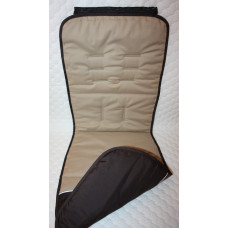 """Матрасик 2-х сторонний из 100 % хлопка США для коляски Valco Baby Snap Trend / Валко Бэби Снап Тренд - расцветка """"бежево-коричневая"""", крепление верха на молнии"""