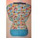 """1 - сторонний матрасик из 100 % хлопка США для коляски Valco Baby Snap 3, Snap 4 / Валко Бэби Снап 3, Снап 4 - с зауженными боковинками - расцветка """"Совы и на голубом"""""""