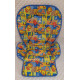 """1 - СТОРОННИЙ ТОЛСТЫЙ ЧЕХОЛ из ПЛАЩЁВКИ - МОЮЩИЙСЯ на стульчик для кормления Chicco Polly Progress 5 / Чикко Полли Прогресс 5, расцветка """"Азбука"""""""